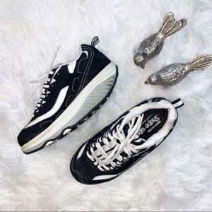 Black Skechers Shape Ups Athletic Shoes Size 6